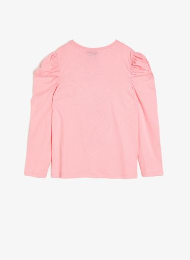 Koton Kids Minnie By Koton Lisanslı Baskılı T-Shirt Pembe